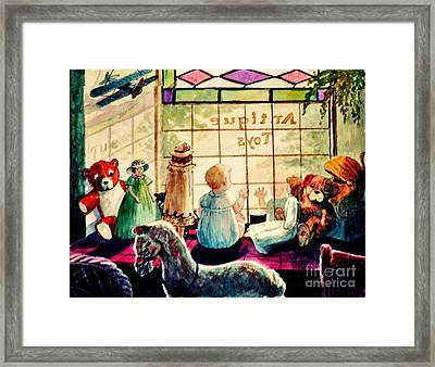 Sarah's Bear Framed Print