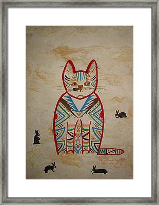 Sarah's Cat Framed Print