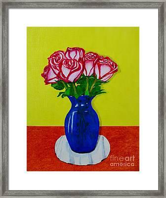 Sara's Roses Framed Print by Melvin Turner