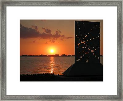 Sarasota Bay Sunset Framed Print