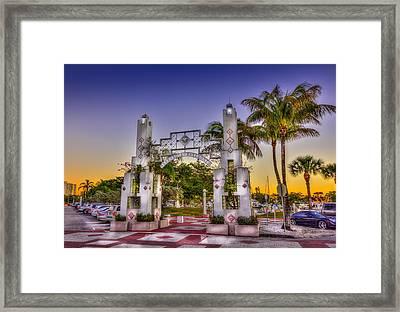 Sarasota Bayfront Framed Print