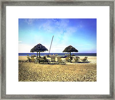 Sarasota Beach And Tennis Club Framed Print by Madeline Ellis