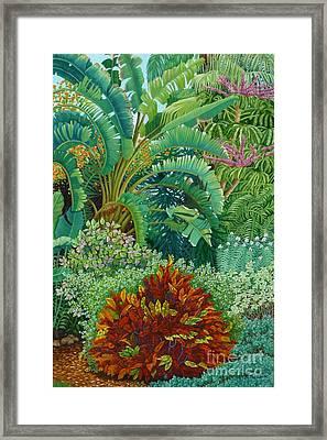 Sarasota Garden Framed Print by Beverly Theriault