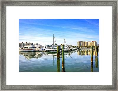 Sarasota Marina Framed Print