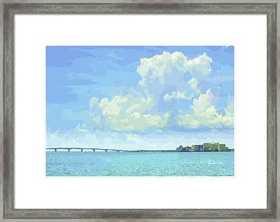 Sarasota Skyline From Sarasota Bay Framed Print