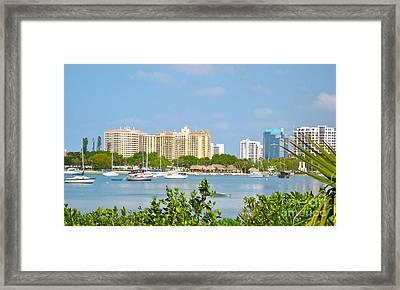 Sarasota Skyline Framed Print