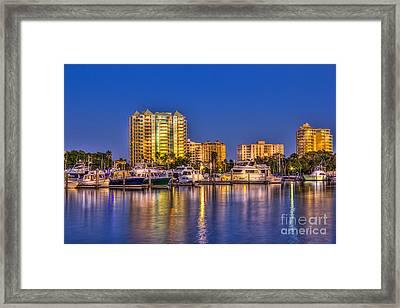 Sarasota Skyline Framed Print by Marvin Spates