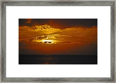 Sarasota Sunset Sun 98 Framed Print by G L Sarti