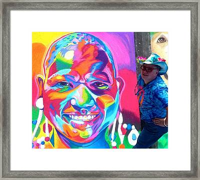 Sarasota's Colorful Face Framed Print by Mythica Von Griffyn