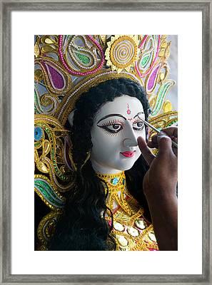 Sarasvati (female Hindu God Framed Print