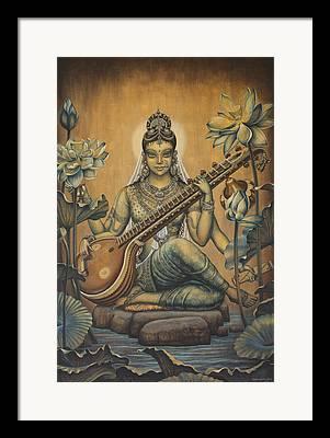 Saraswati Framed Prints