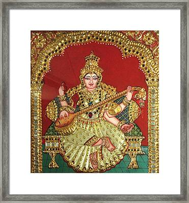 Saraswathi  Framed Print by Jayashree