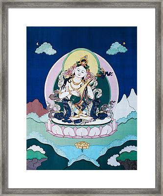 Saraswati Framed Print by Leslie Rinchen-Wongmo