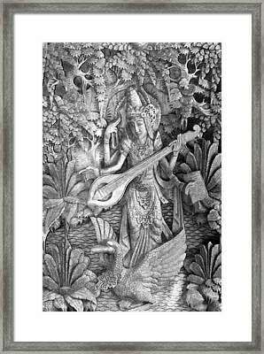 Saraswati - Supreme Goddess Framed Print by Karon Melillo DeVega
