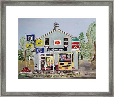 Saratoga Flag Company Framed Print by Sandie Keyser