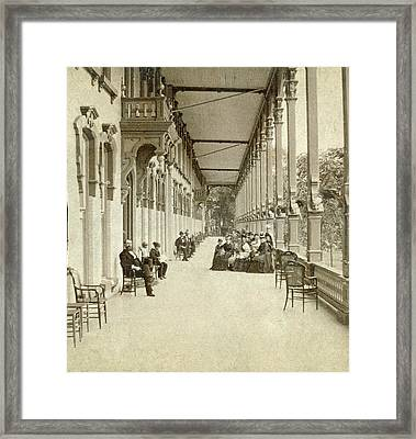 Framed Print featuring the painting Saratoga Hotel, C1880 by Granger