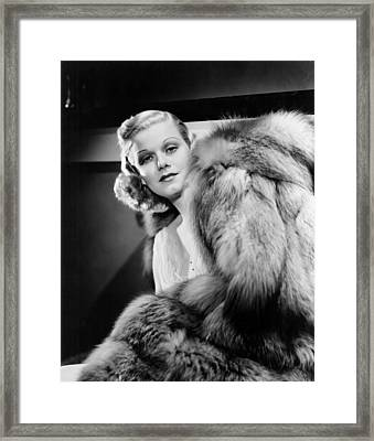 Saratoga, Jean Harlow, In Her Final Framed Print by Everett