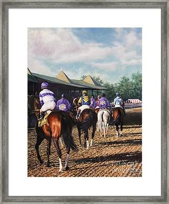 Saratoga Post Parade Framed Print by Thomas Allen Pauly