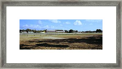 Saratoga Racecourse At Saratoga Framed Print by Panoramic Images