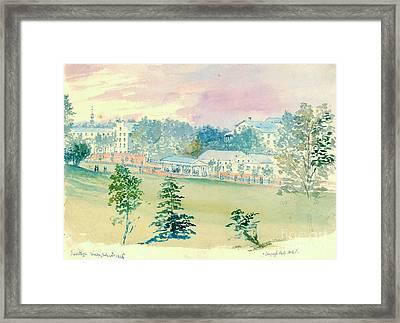 Saratoga Springs New York 1846 Framed Print