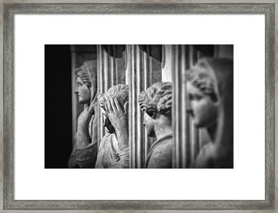 Sarcophagus Of The Crying Women II Framed Print by Taylan Apukovska