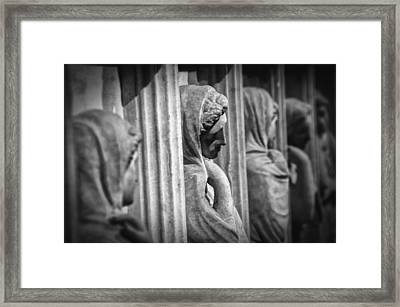 Sarcophagus Of The Crying Women Framed Print by Taylan Apukovska