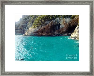 Framed Print featuring the photograph Sardegna Sea by Ramona Matei
