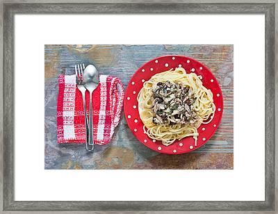 Sardines And Spaghetti Framed Print
