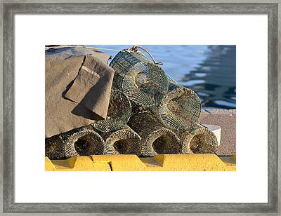 Sardinian Crab Traps Framed Print by Bill Mock