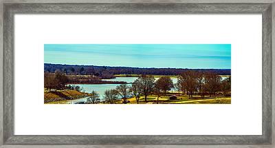 Sardis Upper Lake Panorama Framed Print by Barry Jones