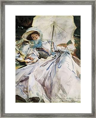 Sargent, John Singer 1856-1925. Lady Framed Print by Everett