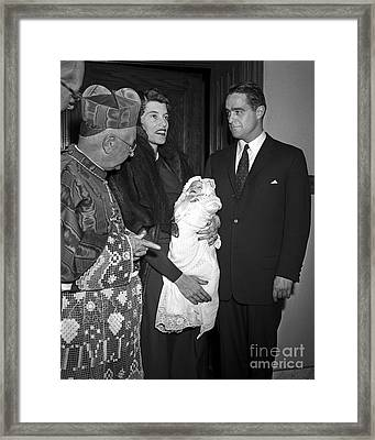 Framed Print featuring the photograph Sargent Shriver 1955 by Martin Konopacki Restoration