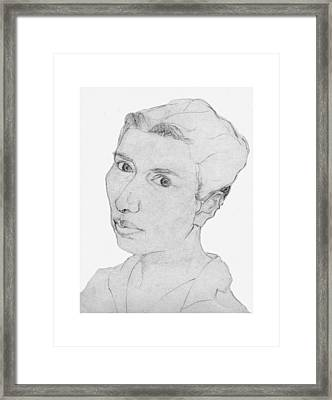 Framed Print featuring the drawing Sari by Aurora Levins Morales