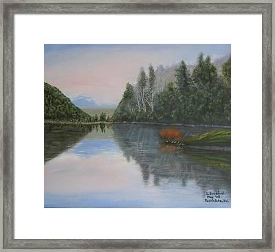 Sarita Lake On Vancouver Island Framed Print