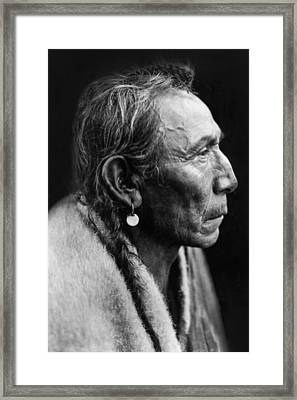 Sarsi Indian Man Circa 1927 Framed Print by Aged Pixel