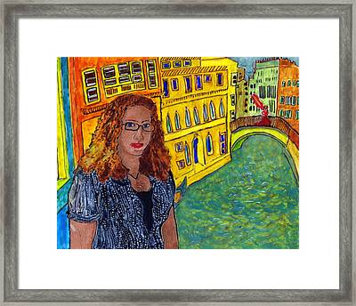 Sasha And Greta Framed Print