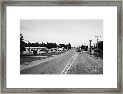 Saskatchewan Highway 21 Through The Town Of Leader Sk Canada Framed Print by Joe Fox