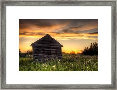 Saskatchewan Sunset Framed Print by Matt Dobson