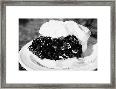 saskatoon berry pie with whipped cream Saskatchewan Canada Framed Print