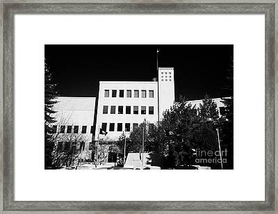 Saskatoon City Hall Saskatchewan Canada Framed Print by Joe Fox