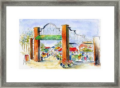 Saskatoon Farmers' Market Framed Print