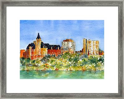 Saskatoon Panorama Framed Print by Pat Katz