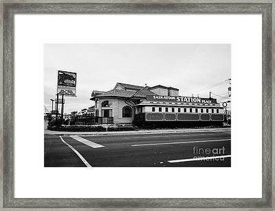saskatoon station place restaurant Saskatchewan Canada Framed Print by Joe Fox