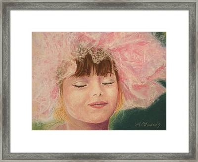 Sassy In Tulle Framed Print by Marna Edwards Flavell