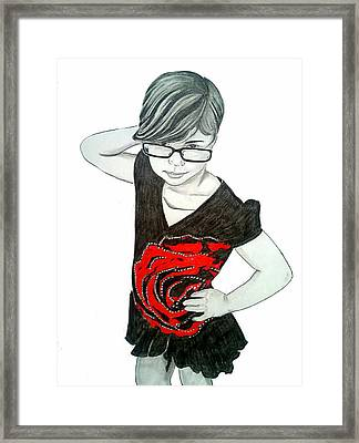 Sassy Izzy Framed Print by Justin Moore