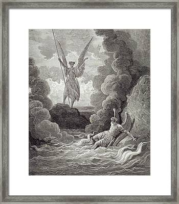 Satan And Beelzebub Framed Print by Gustave Dore