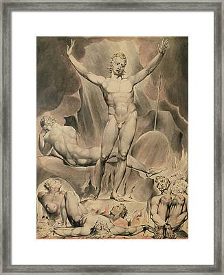 Satan Arousing The Rebel Angels, 1808 Framed Print by William Blake