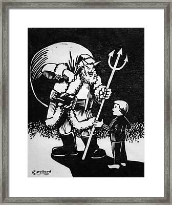 Satan Santa Framed Print