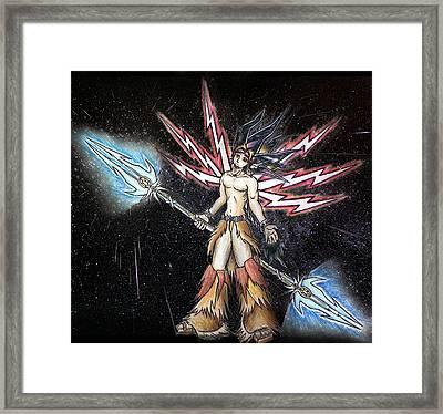 Satari God Of War And Battles Framed Print