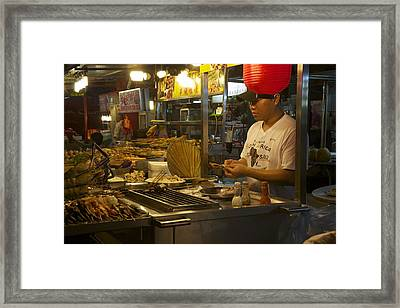 Satay Under Red Framed Print